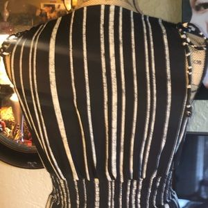 Xhilaration Dresses - NWOT- Black and white striped Maxi Dress